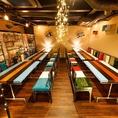 JR新宿駅東口徒歩3分!!西武新宿駅徒歩1分の隠れ家個室肉バル♪2名様~最大60名様まで利用可能な個室空間を完備しております♪