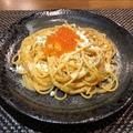 料理メニュー写真ウニボナーラパスタ