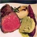 料理メニュー写真BBQランプ(もも肉)ステーキ 100g
