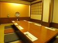 8名様までの個室。しっとりしたくつろぎ空間で美食を愉しむ…。2部屋ありです。