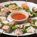 料理メニュー写真魚串焼き盛合わせ[5種]