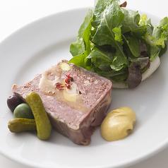 料理メニュー写真田舎風お肉のパテ