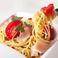 料理メニュー写真生ハムとフレッシュトマトのオイル