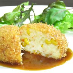 料理メニュー写真ずわい蟹とコーンのクリームコロッケ