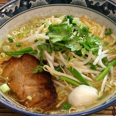 料理メニュー写真ナンプラーヌードル(Nampla Soup Noodle with Pork)