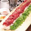 料理メニュー写真インパクト◎ロング寿司!一味変わったご宴会に♪