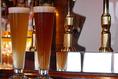 季節の4種類のクラフト生ビールや瓶クラフトも豊富に取り揃えています。