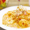 料理メニュー写真ずわい蟹と海老の自家製濃厚トマトクリーム 生麺タリオリーニ