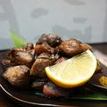 料理メニュー写真もも 赤鶏 黒焼き(1人前)