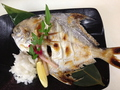 料理メニュー写真高級魚マナガツオの塩焼き(冬)