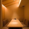 和をイメージした6名用テーブル完全個室