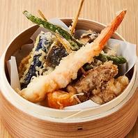 米油を使用した驚きのサクサク食感!天ぷら盛り合わせ