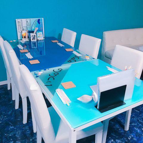 貝殻の飾りつけが可愛い、テーブル席♪