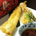 料理メニュー写真穴子の一本揚げ天ぷら