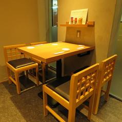 気の合う同僚や宴会に◎4名様までのテーブル席。
