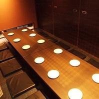 広島駅北口から徒歩1分。広々とした掘りごたつ個室完備