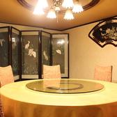 円卓テーブルは優雅な気分でお料理を楽しんで戴けます