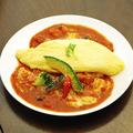 料理メニュー写真完熟トマトと2種チーズオムライス