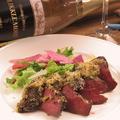 料理メニュー写真牛ハツのロースト チュミチュリパン粉焼き