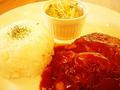 料理メニュー写真デミグラスソースハンバーグ