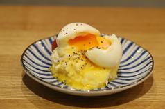 半熟ポテトサラダ/天草大王鶏皮ポン酢/ホタルイカ沖漬け