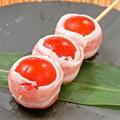 料理メニュー写真トマト豚バラ巻