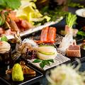 料理メニュー写真絶品料理は地鶏料理だけではなく海鮮料理も大好評頂いております。お造りなど海鮮料理は690円~ご用意!