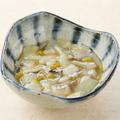料理メニュー写真たこわさび/鶏皮ぽん酢/オニオンスライス