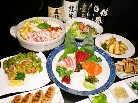鮮度の良い魚を使用した刺身、炭火で焼いた串物が人気。90分飲み放題が1050円。