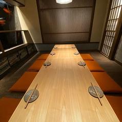 【禁煙席】広々とした宴会向きのお席をはじめ、掘りごたつ個室もございますので、大切な方のおもてなしやお祝い、接待などにもご活用頂けます◎