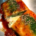 料理メニュー写真とんぺい焼きのチーズ