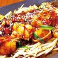 料理メニュー写真ホルモンたれ焼き/神戸塩みんち 1本