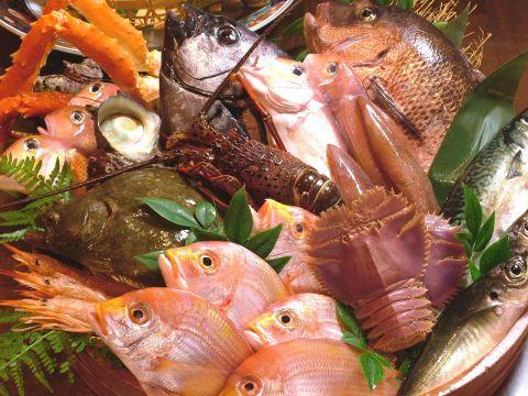 旨い魚をどうぞ!!旬の新鮮刺身盛1700円~!地元客~観光客まで幅広く人気のお店!!