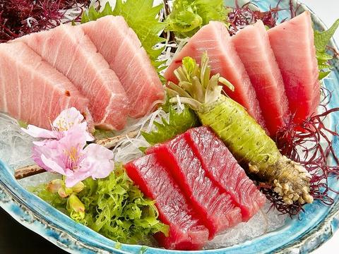 独自ルートで仕入れる極上鮪や、鮮度抜群の厳選地魚が食べられる食事処。