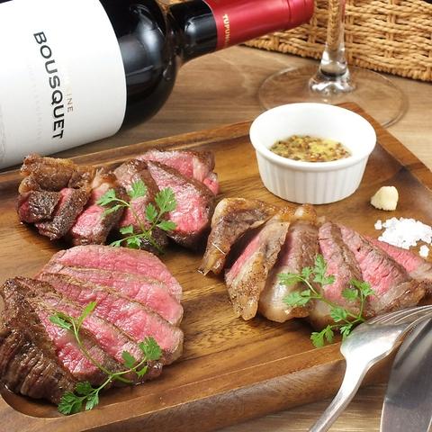 国産黒毛和牛食べ比べや鮮魚を丸ごと使ったアクアパッツァとワインのマリアージュ!