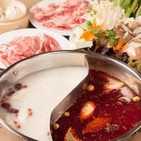 中華火鍋コース、3000円。美味しいラム肉も付きます