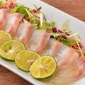 料理メニュー写真獲れたて鮮魚のすだちカルパッチョ