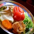 料理メニュー写真まるごとトマトのチキンカレー鍋 ※お鍋は2人前からになります