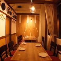 2~40名まで対応する個室空間が7部屋★デートも宴会もOK