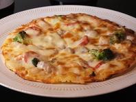 海鮮でんかピザ750円