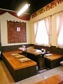 インド料理店には珍しい掘りごたつ席もあります!