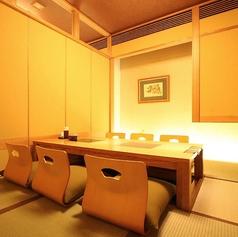 雰囲気が良く、接待や会食などにもぴったりの掘りごたつ個室です。