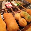 料理メニュー写真山賊セット【元祖豚かつ/鶏つくねチーズ/ささみチーズ/じゃがウインナー/とりかつ】