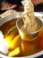 お肉の旨みがたっぷりスープ&生蕎麦で〆