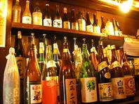 豊富な日本酒・焼酎!