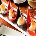 料理メニュー写真真鯛とイクラのカルパッチョ 梅オリーブ