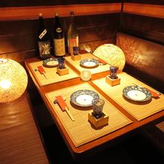落ち着いた雰囲気の4名個室【町田 居酒屋 飲み放題 個室 海鮮 送別会 歓迎会】※4月1日より全面禁煙になります。