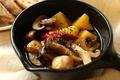 料理メニュー写真旬の野菜と根菜のアヒージョ