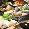 ゆったり落ち着いた雰囲気の店内は最大36名様の大型宴会も可能です♪この季節にピッタリの旬のお料理が自慢