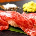 料理メニュー写真飛騨牛の炙り肉寿司